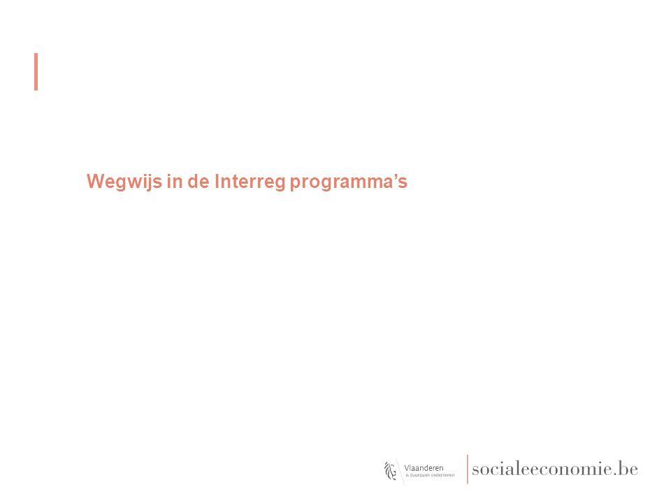 Wegwijs in de Interreg programma's