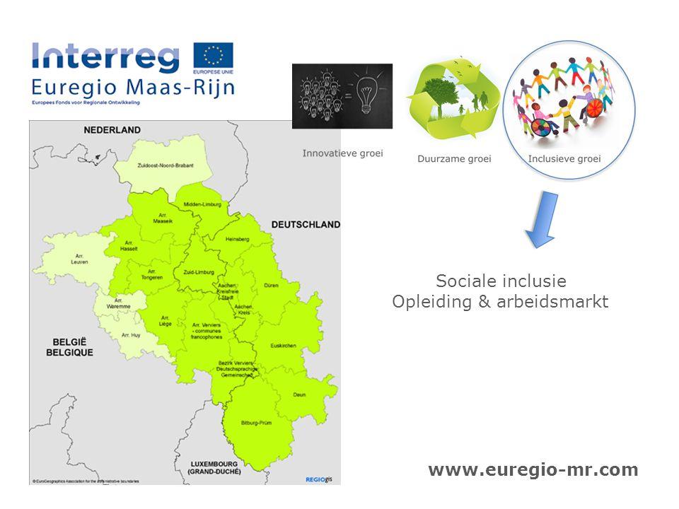 Sociale inclusie Opleiding & arbeidsmarkt www.euregio-mr.com