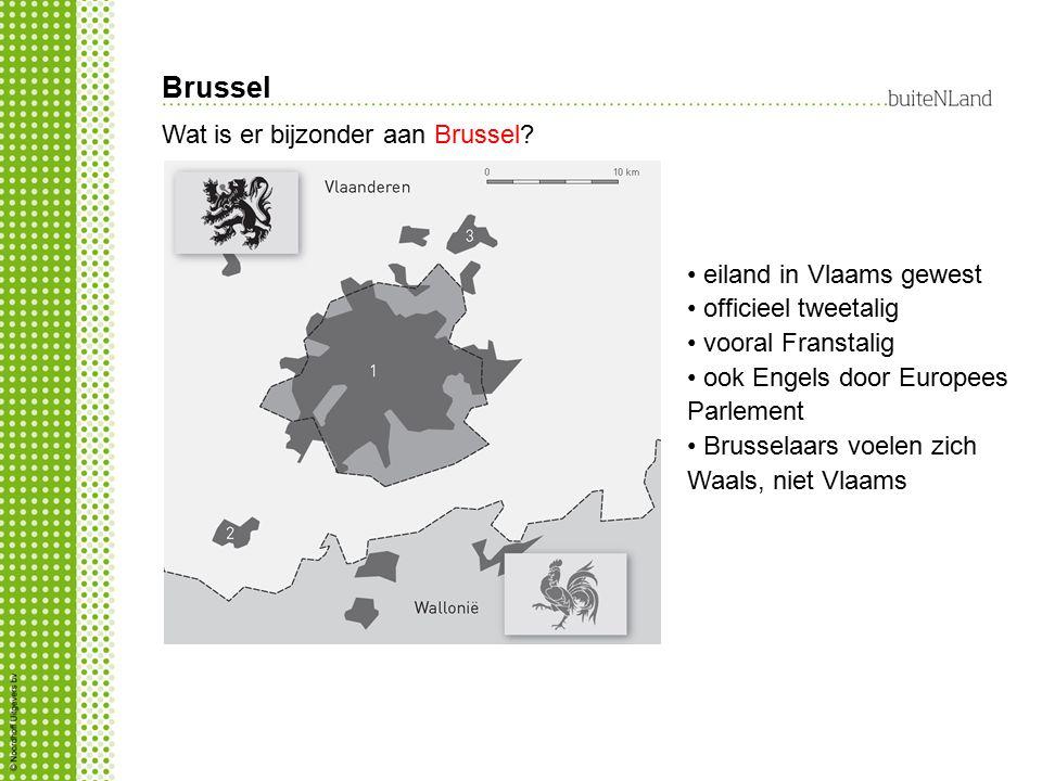 Brussel Wat is er bijzonder aan Brussel? eiland in Vlaams gewest officieel tweetalig vooral Franstalig ook Engels door Europees Parlement Brusselaars