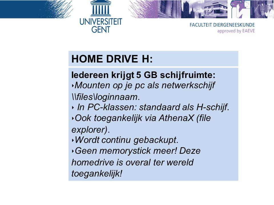 *Integratie tekstverwerker en bibliografie software *Op de homedrive worden continu snapshots bijgehouden.