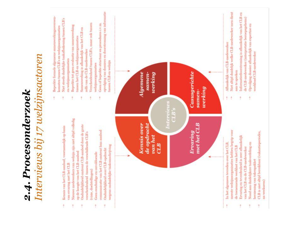 2.4. Procesonderzoek Interviews bij 17 welzijnsactoren