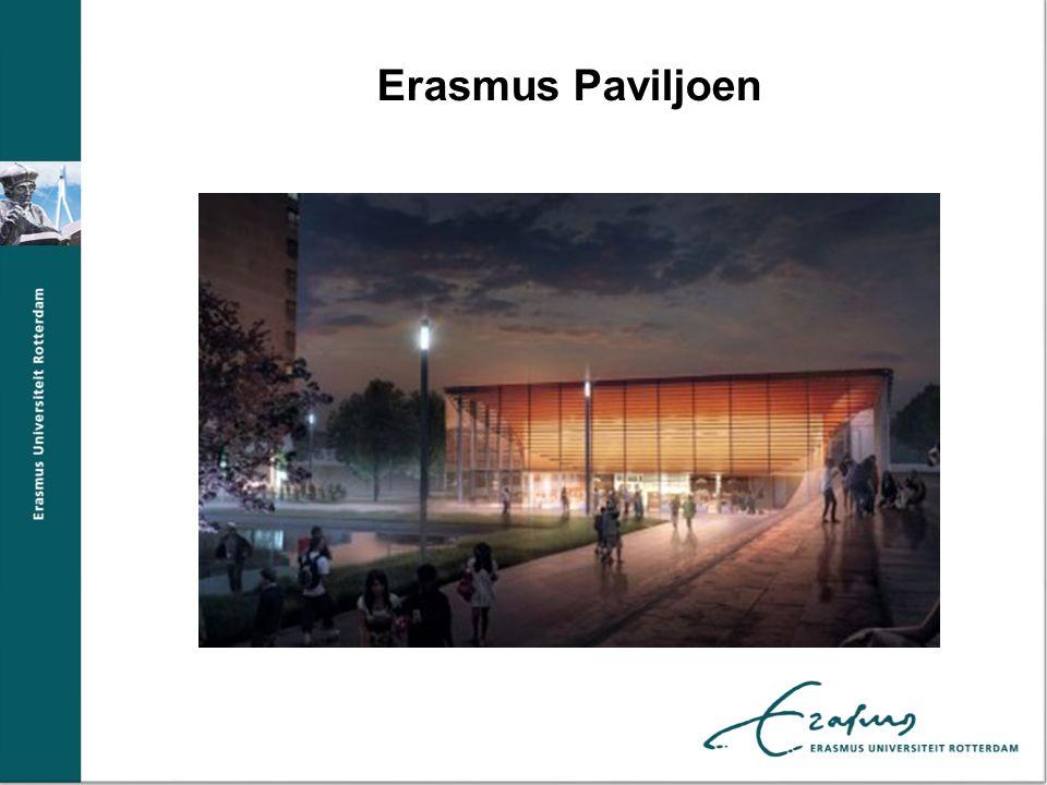Campus Plaza Gluren in de parkeergarage in aanbouw Oplevering februari 2013 Artist impressi Erasmus Paviljoen Erasmus Plaza Erasmus Paviljoen
