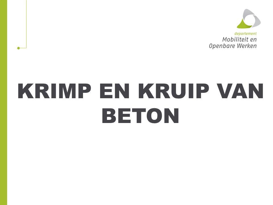 KRIMP EN KRUIP VAN BETON