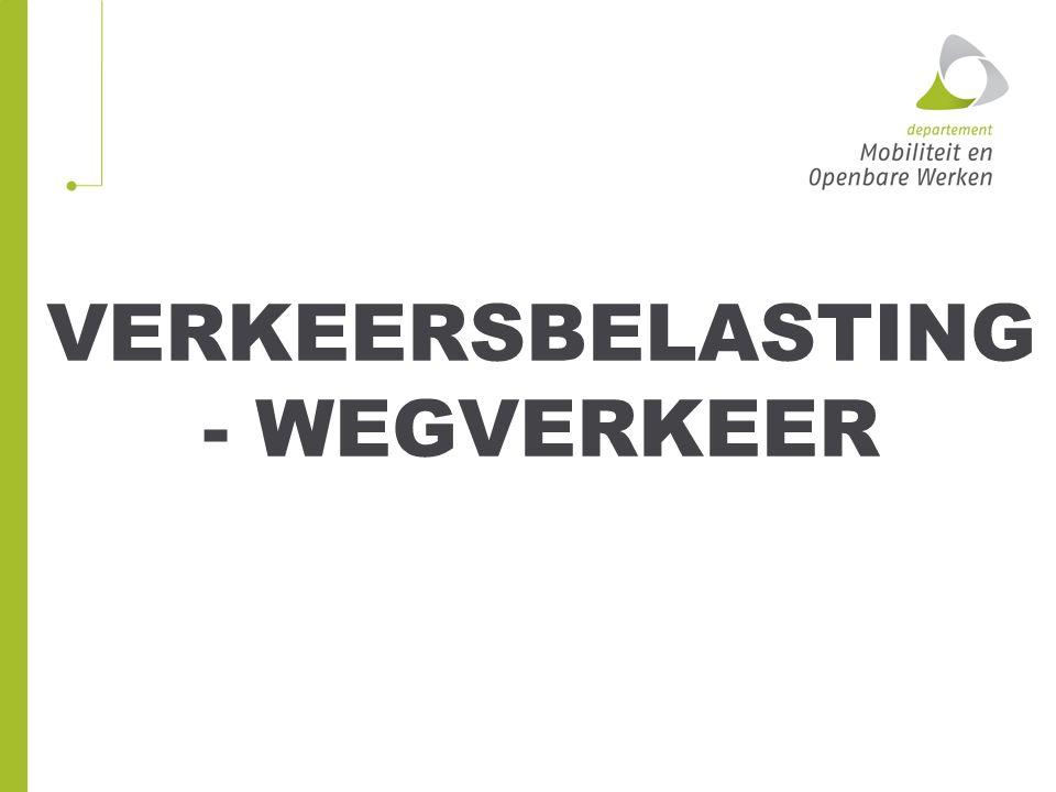 VERKEERSBELASTING - WEGVERKEER