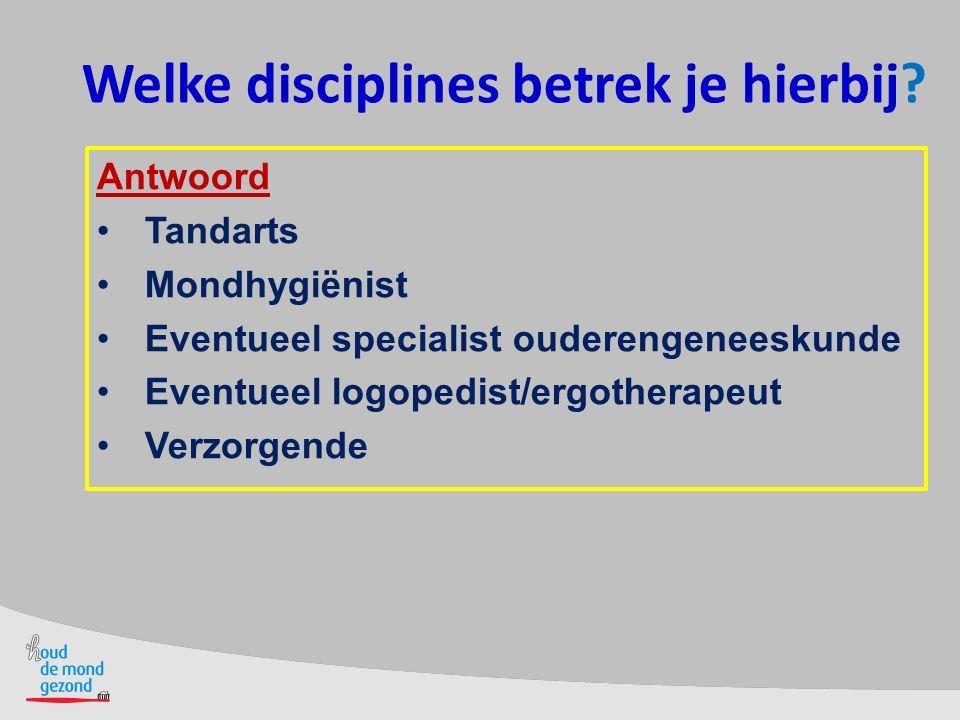 Welke disciplines betrek je hierbij.