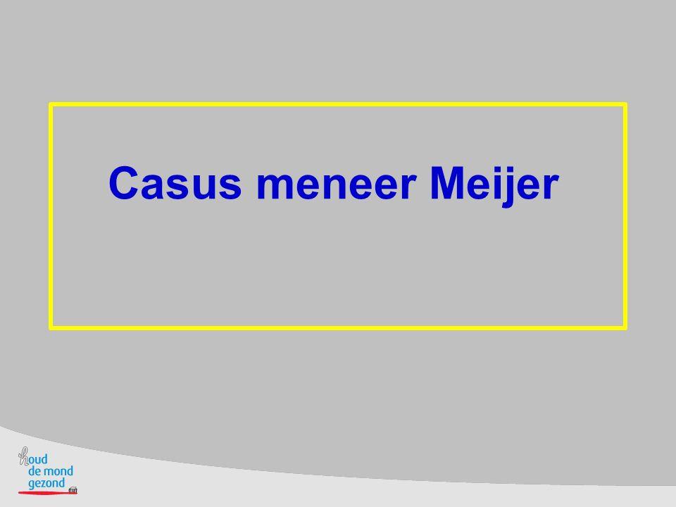 Waarom draagt meneer Meijer het frame niet.