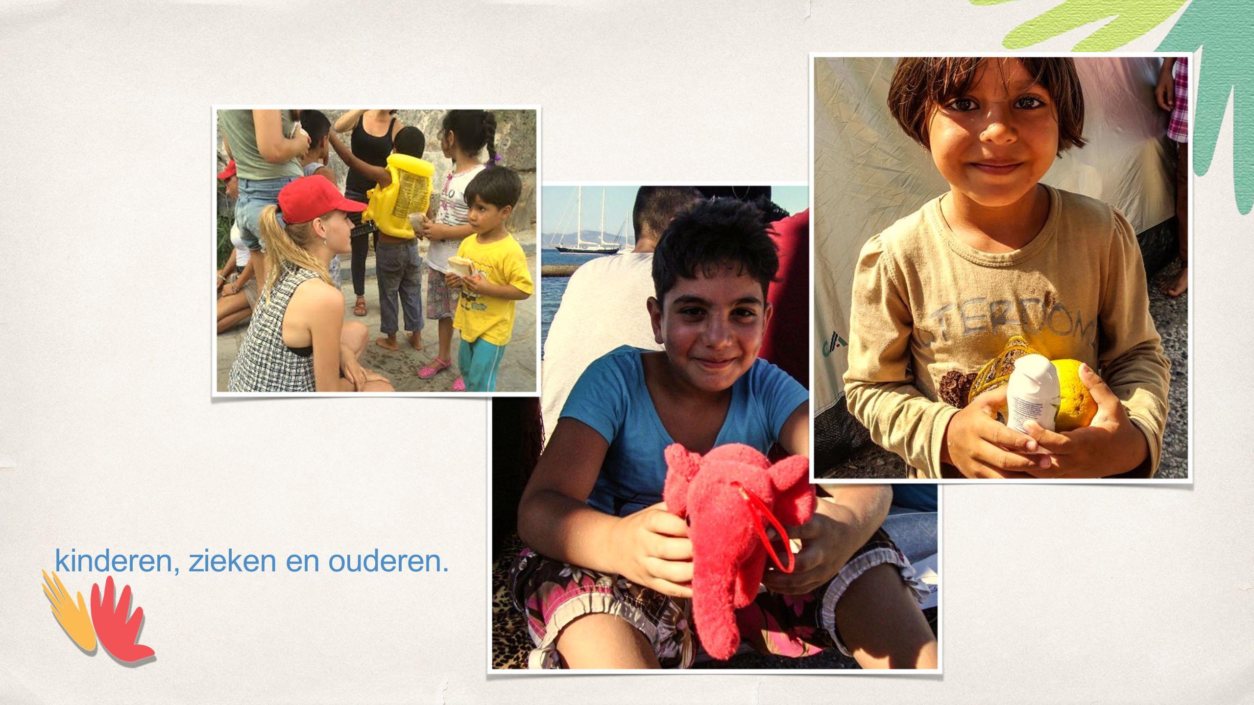 kinderen, zieken en ouderen.