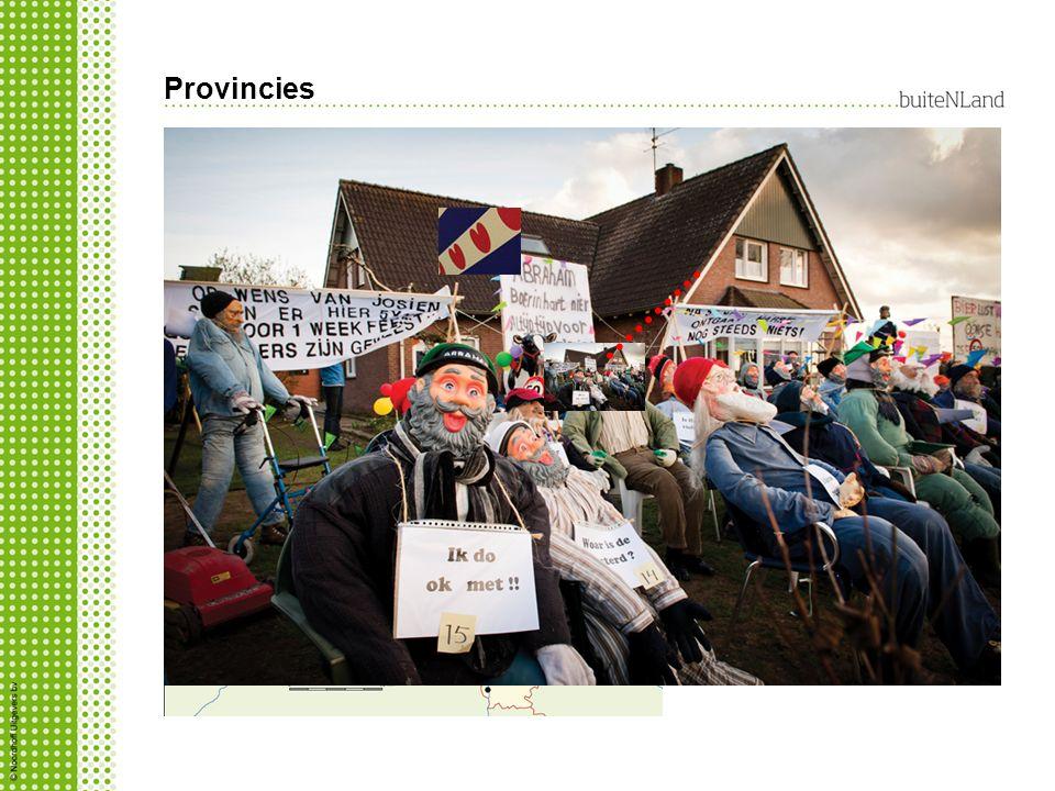 Provincies Aantal provincies heeft eigen identiteit en cultuur Wat is regionalisme? inwoners van een regio, een gebied, houden vast aan hun eigen gesc
