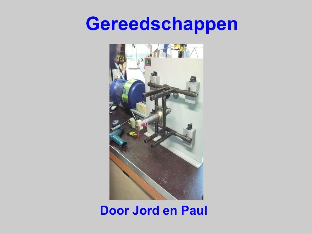 Boor gereedschappen De boormachines die wij gebruiken hebben een variabel toerental tussen de 450 en 2600 omwentelingen en minimaal 750 watt.