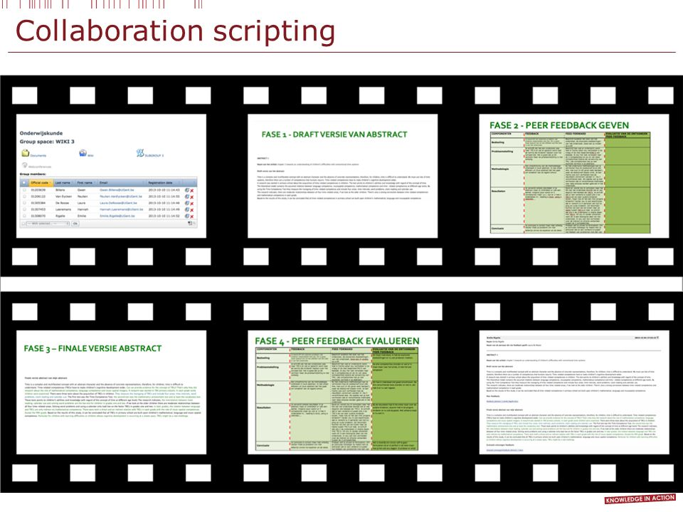 Collaboration scripting