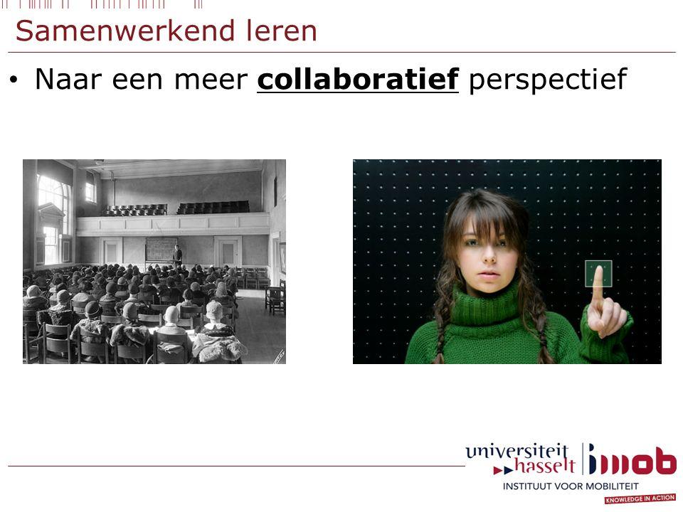 Samenwerkend leren Naar een meer collaboratief perspectief
