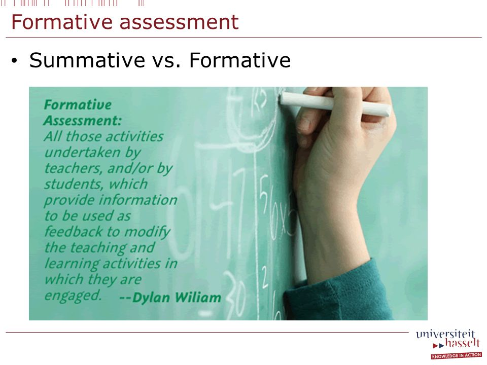 Formative assessment Summative vs. Formative