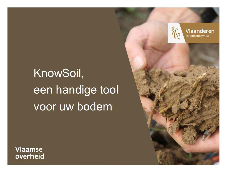 KnowSoil, een handige tool voor uw bodem