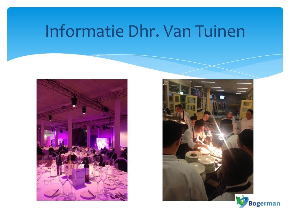Informatie Dhr. Van Tuinen