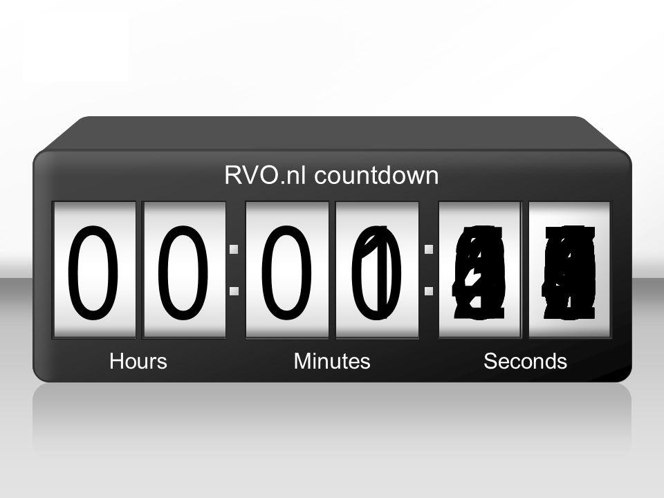 090 00 2 876543215 1 004987654321039876543210987654321021987654321098765432100 HoursMinutesSeconds RVO.nl countdown