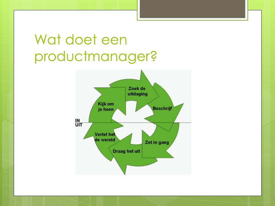 Wat doet een productmanager?