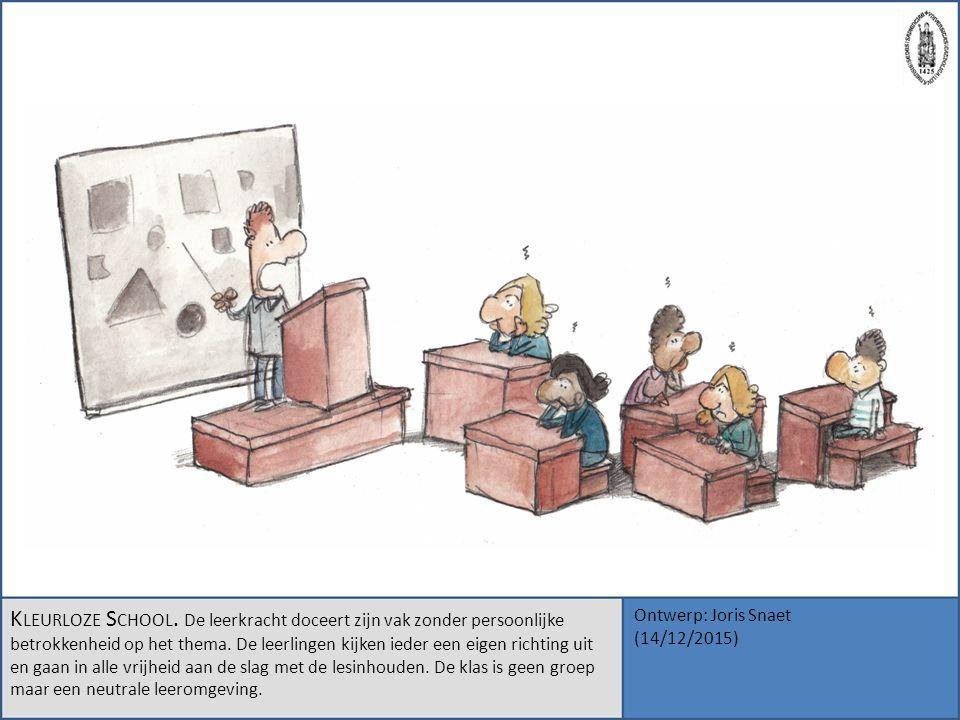K LEURLOZE S CHOOL. De leerkracht doceert zijn vak zonder persoonlijke betrokkenheid op het thema. De leerlingen kijken ieder een eigen richting uit e