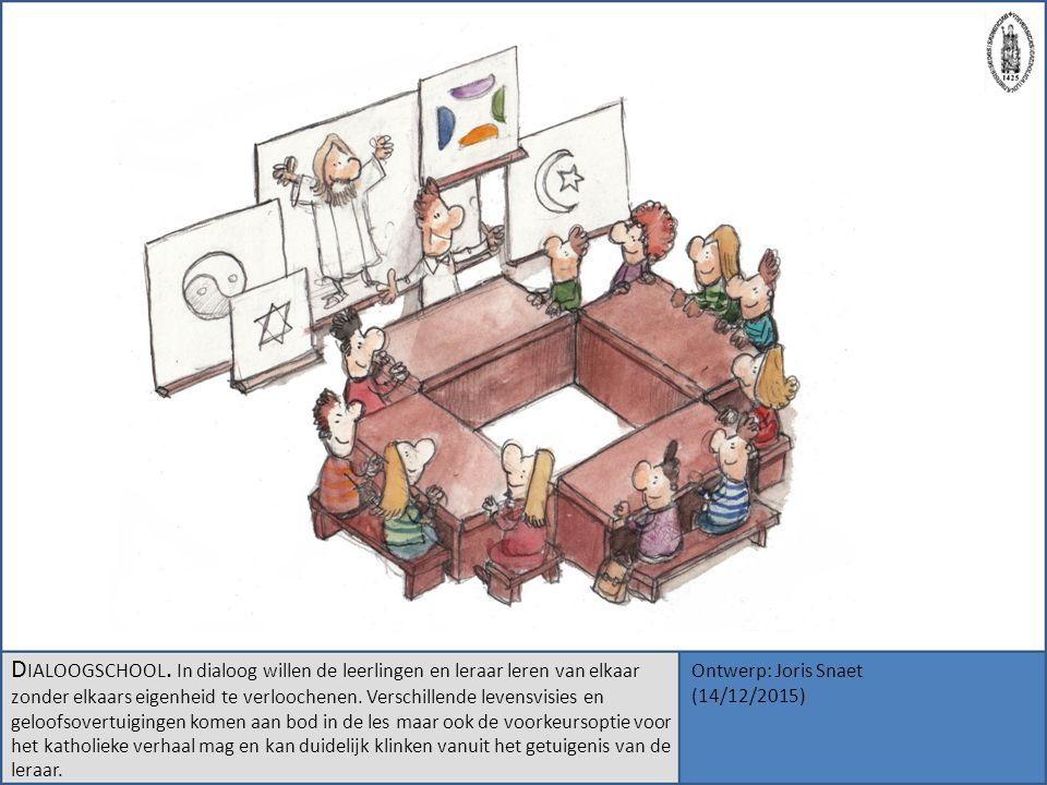 D IALOOGSCHOOL. In dialoog willen de leerlingen en leraar leren van elkaar zonder elkaars eigenheid te verloochenen. Verschillende levensvisies en gel
