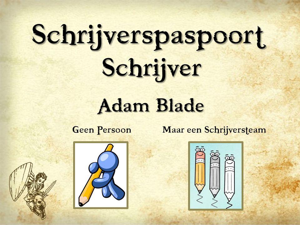 Schrijverspaspoort Schrijver Adam Blade Geen PersoonMaar een Schrijversteam