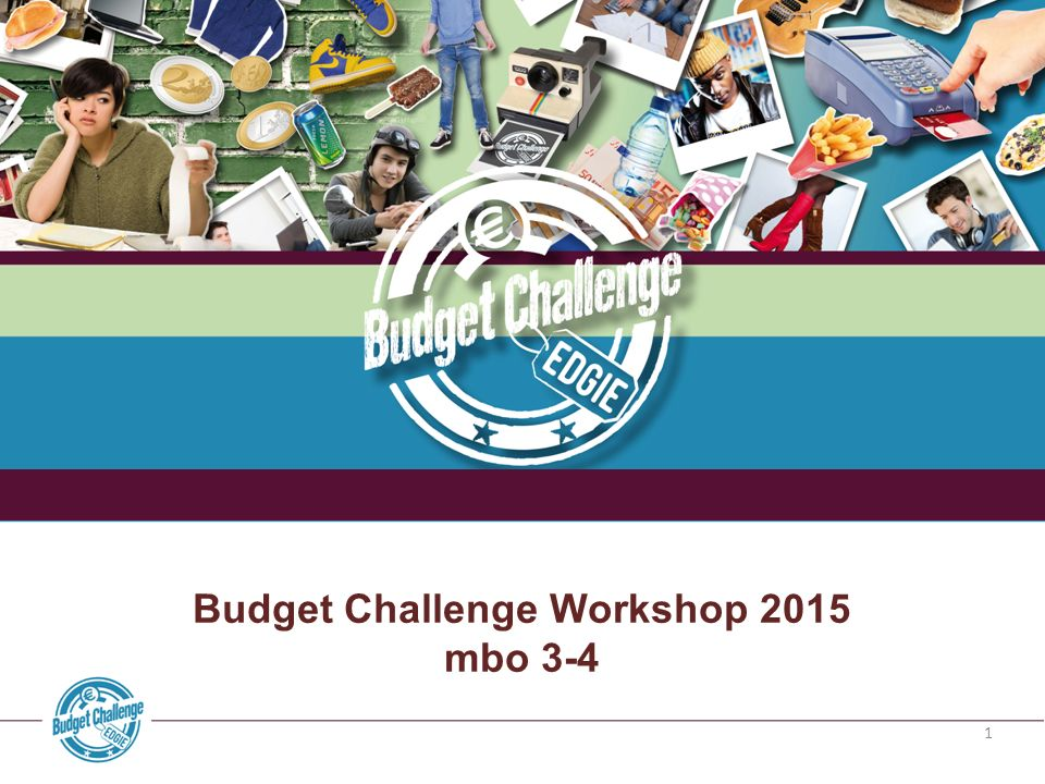 1 Budget Challenge Workshop 2015 mbo 3-4