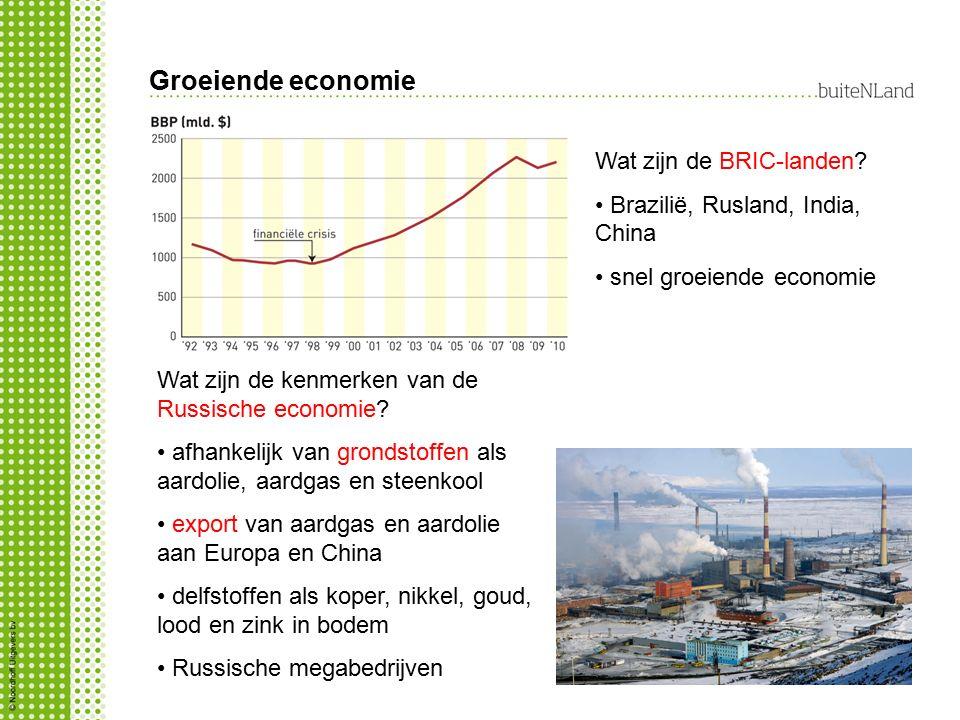 Groeiende economie Wat zijn de BRIC-landen.