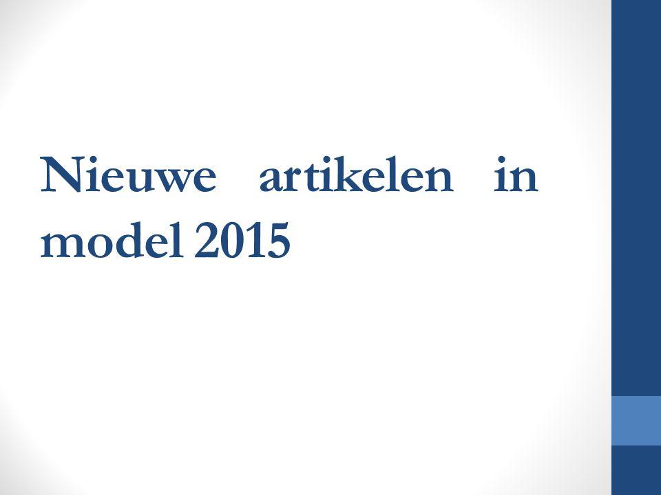 Nieuwe artikelen in model 2015