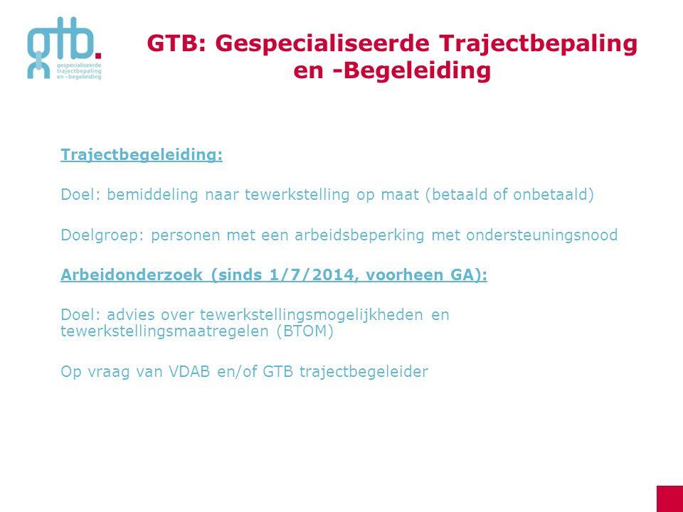Vlaams gesubsidieerd in maatwerkbedrijven: 11 arbeidszorginitiatieven in Vlaams-Brabant +/- 200 klanten permanent GTB verzorgt toeleiding en trajectbegeleiding 2.