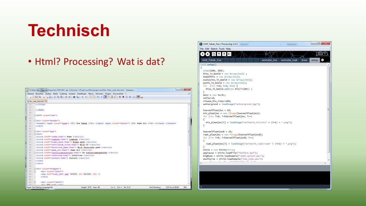 Technisch Html Processing Wat is dat