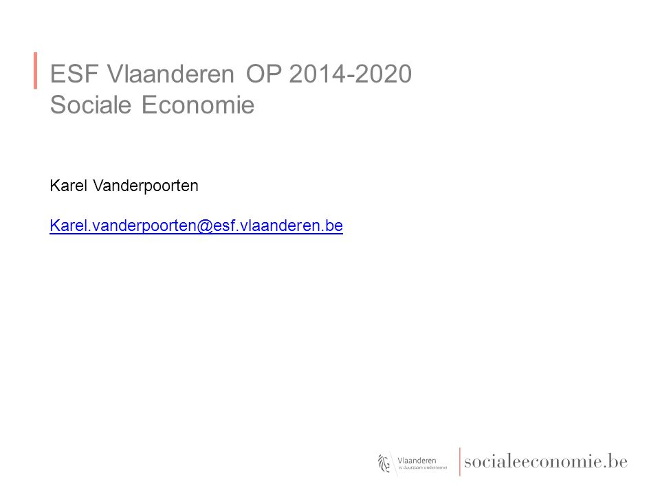 OP 2014-2020 Prioriteit 1, loopbaanbeleid curatief, 8i (werkzaamheid); 8ii (werkzoekende jongeren); 8iii (ondernemerschap) Prioriteit 2, loopbaanbeleid preventief 10i (ongekwalificeerde uitstroom); 10iii (een leven lang leren); Prioriteit 3, sociale inclusie en armoedebestrijding 9i (actieve inclusie); 9ii (focus op gemarginaliseerde groepen); 9v (ondersteuning van de sociale economie);