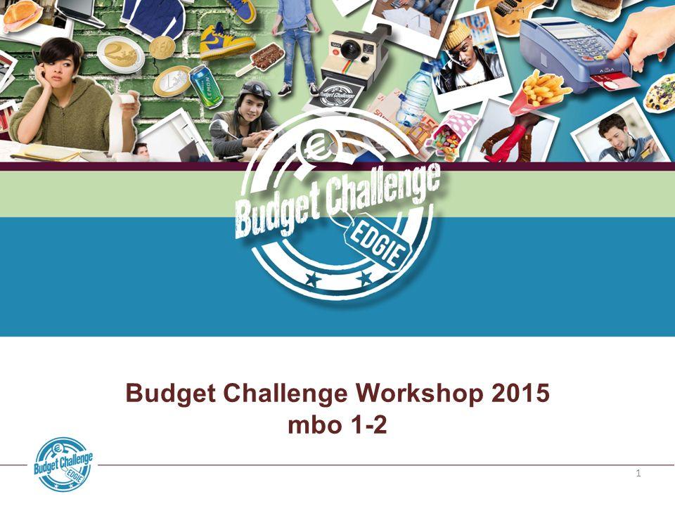 1 Budget Challenge Workshop 2015 mbo 1-2