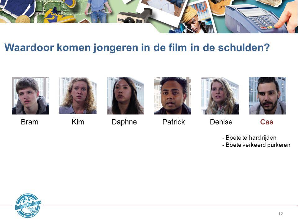 12 Waardoor komen jongeren in de film in de schulden.