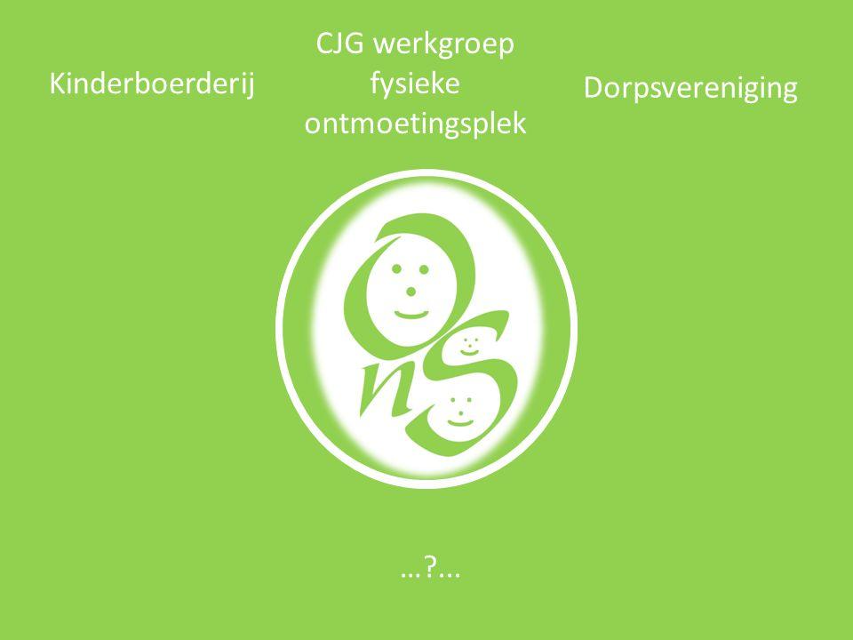 Kinderboerderij CJG werkgroep fysieke ontmoetingsplek Dorpsvereniging …?...