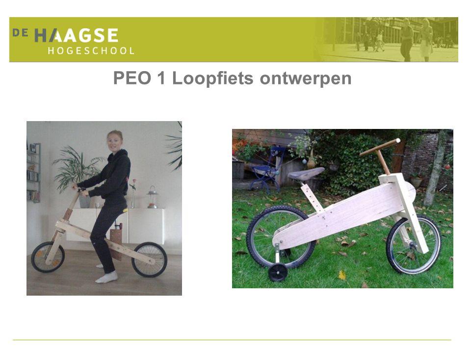 PEO 1 Loopfiets ontwerpen