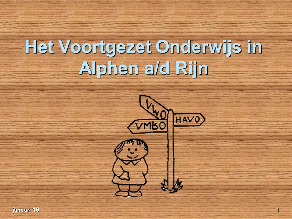 Het Voortgezet Onderwijs in Alphen a/d Rijn januari '161