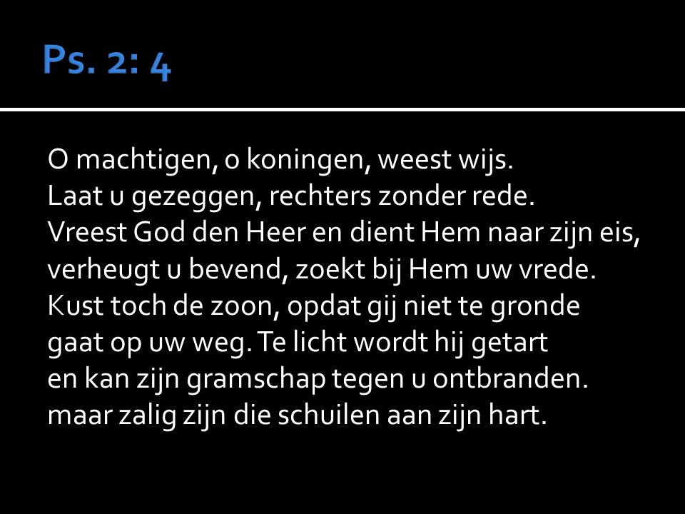  Ps. Preek  Amenlied Ps. 86: 4,5  Geloofsbelijdenis Gz.