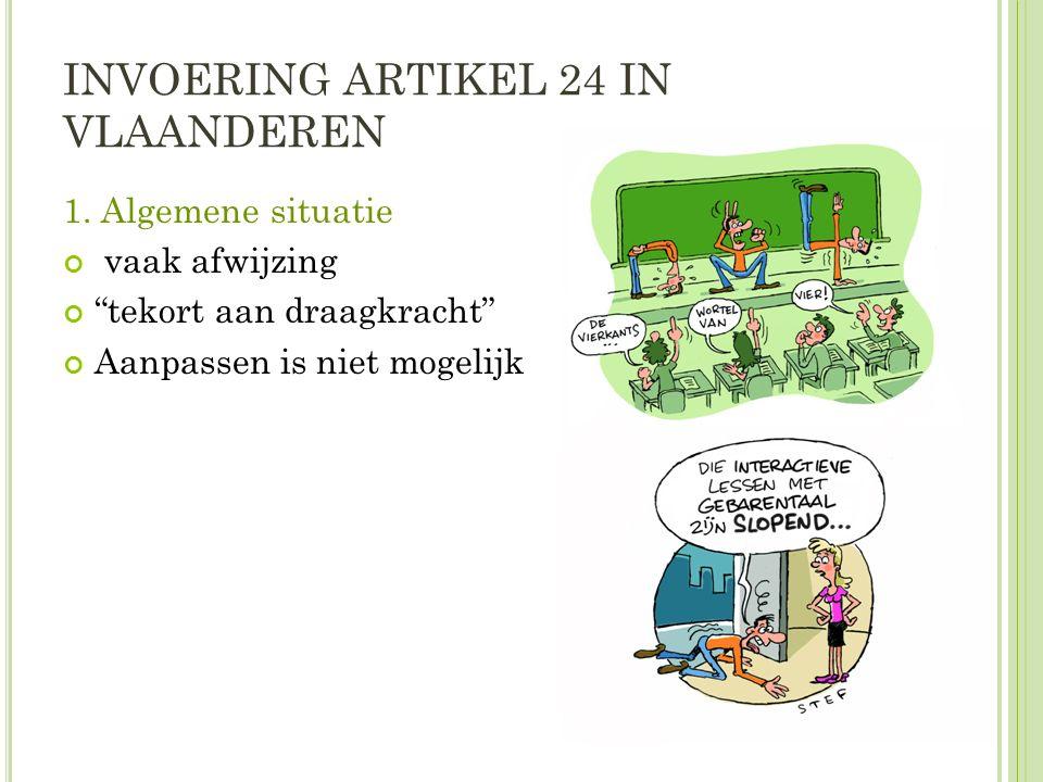 INVOERING ARTIKEL 24 IN VLAANDEREN 1.