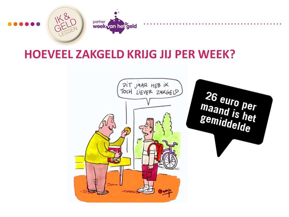 HOEVEEL ZAKGELD KRIJG JIJ PER WEEK