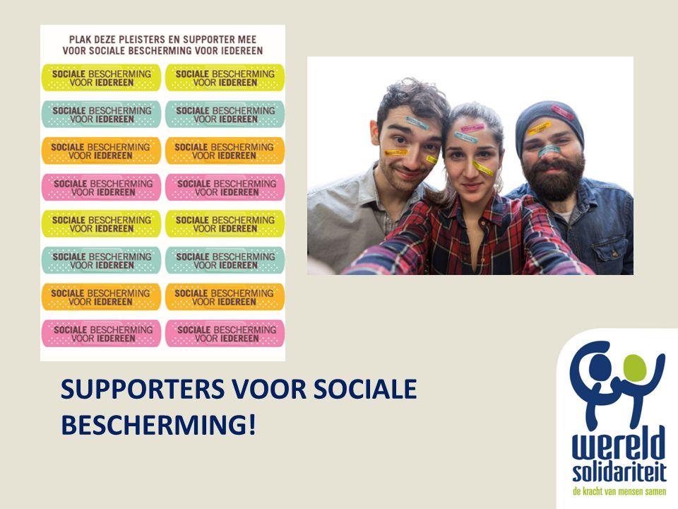 SUPPORTERS VOOR SOCIALE BESCHERMING!