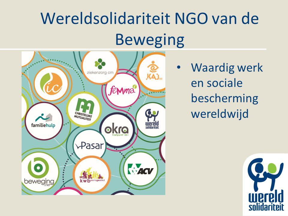 Wereldsolidariteit NGO van de Beweging Waardig werk en sociale bescherming wereldwijd