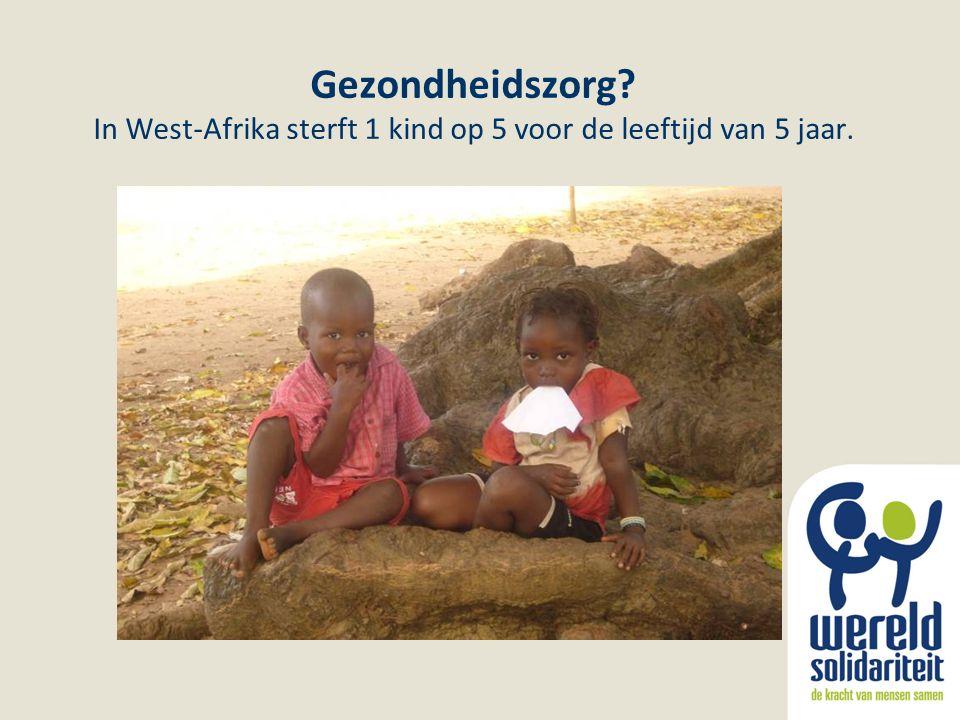 Gezondheidszorg? In West-Afrika sterft 1 kind op 5 voor de leeftijd van 5 jaar.