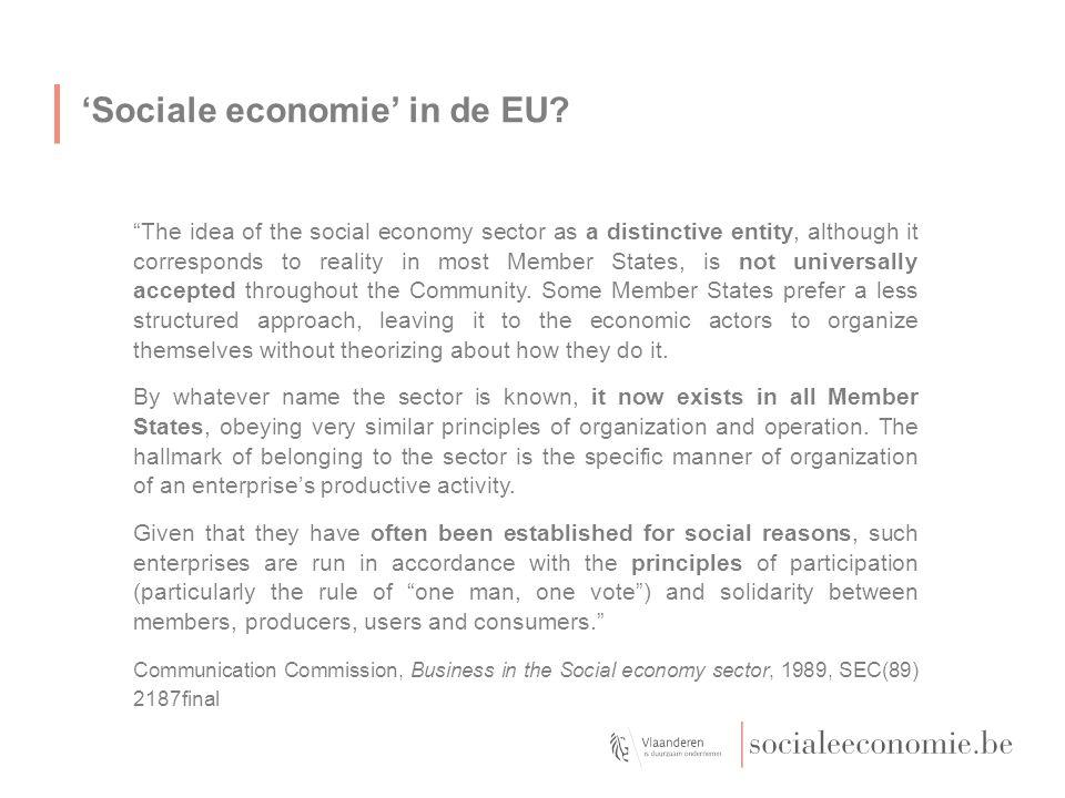 'Sociale economie' in de EU.