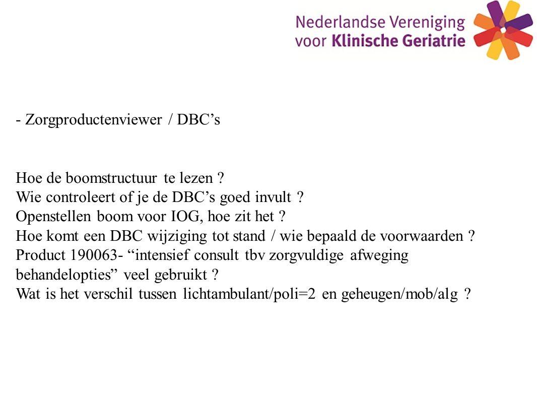 - Zorgproductenviewer / DBC's Hoe de boomstructuur te lezen .
