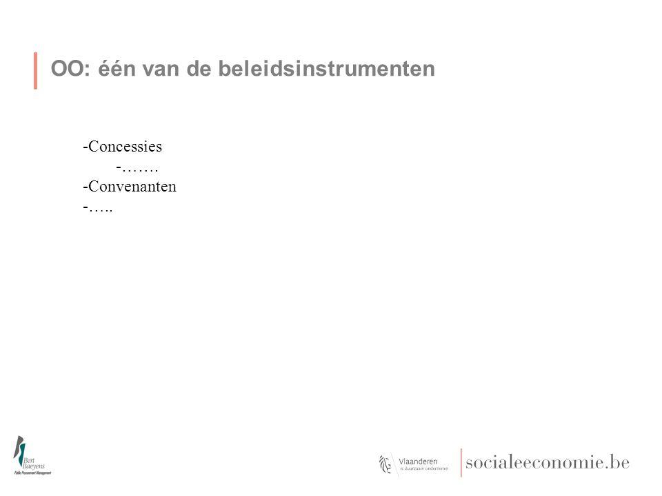 OO: één van de beleidsinstrumenten -Concessies -……. -Convenanten -…..