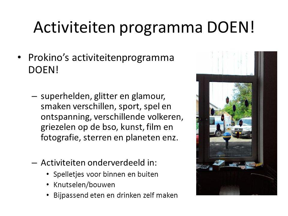 Activiteiten programma DOEN. Prokino's activiteitenprogramma DOEN.