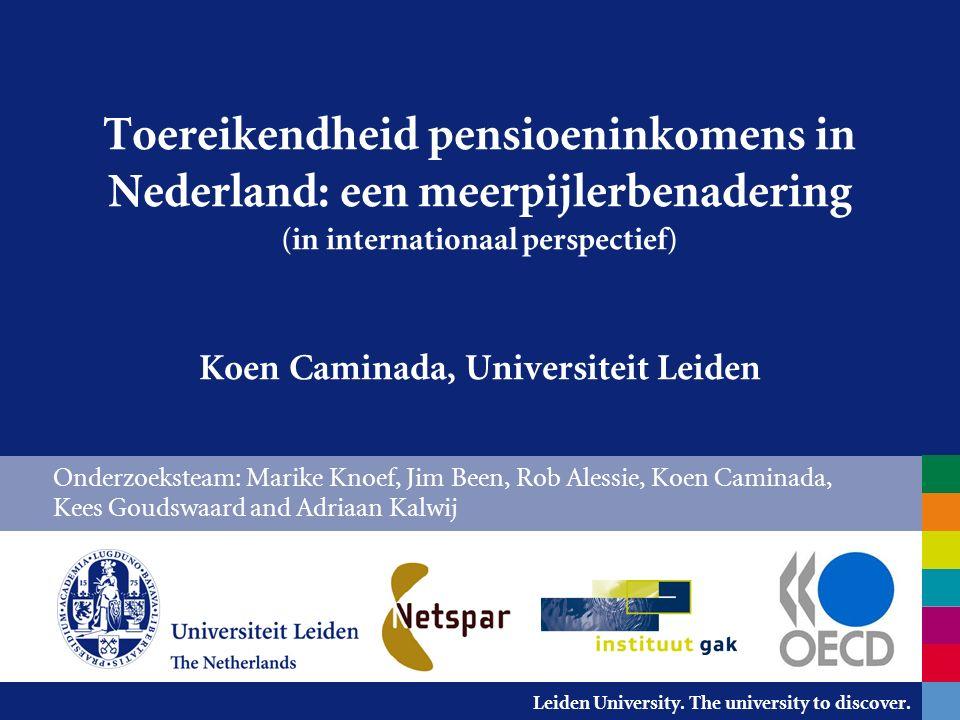 Leiden University.The university to discover. Wat vindt u een toereikend pensioen.