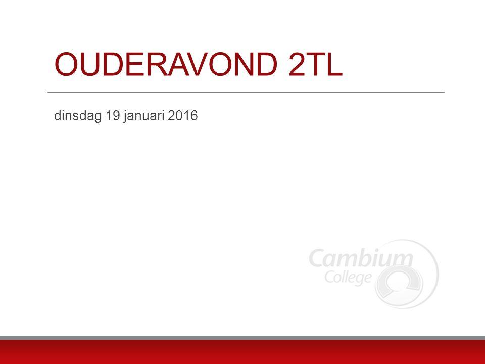 OUDERAVOND 2TL dinsdag 19 januari 2016