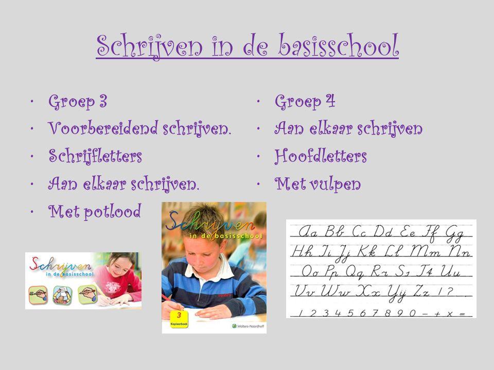 Schrijven in de basisschool Groep 3 Voorbereidend schrijven.
