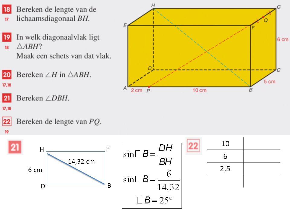 D B F H 6 cm 14,32 cm 10 6 2,5