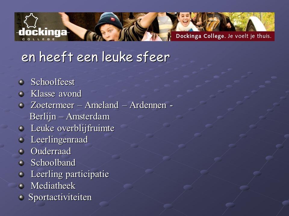 en heeft een leuke sfeer en heeft een leuke sfeer Schoolfeest Schoolfeest Klasse avond Klasse avond Zoetermeer – Ameland – Ardennen - Zoetermeer – Ame