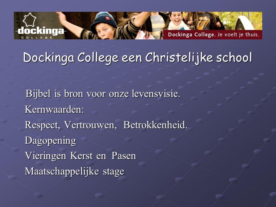 Dockinga College een Christelijke school Dockinga College een Christelijke school Bijbel is bron voor onze levensvisie. Bijbel is bron voor onze leven